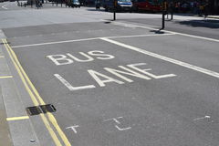 Bus Lane, London Stock Photos