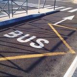 Bus lane. Markings on street Royalty Free Stock Image