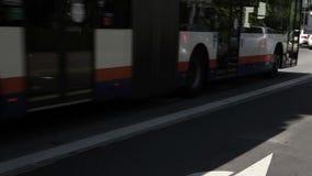 Bus lane stock video