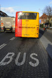 BUS LANE FOR PUBLIC BUS TRANSPORTATION Royalty Free Stock Images
