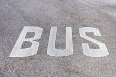 Bus lane road marking Royalty Free Stock Photography