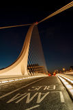 Bus Lane on Samuel Beckett Bridge Dublin. On a clear summer night Royalty Free Stock Photography