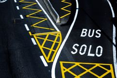 Bus lane Stock Image