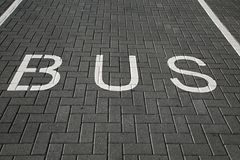 Bus Lane Sign Stock Photography
