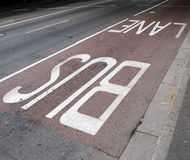 Bus lane. Royalty Free Stock Image