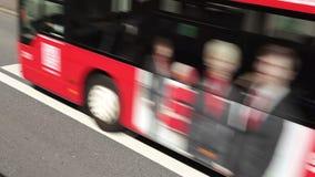 Bus lane stock footage