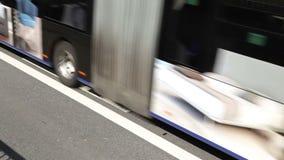 Bus lane stock video footage