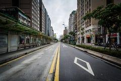 Bus lanes on Xinyi Road, at Dongmen, in the Da'an District of Ta. Ipei, Taiwan stock photo