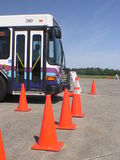 Bus Leaving the Left Reverse Manuver. 2006 bus roadeo course in Wilmington, NC Stock Photos