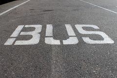 Bus line Stock Photography