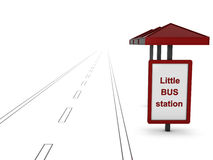 bus little station Arkivbilder