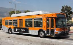 Bus locale della metropolitana alimentata a gas naturale a Pasadena Fotografie Stock Libere da Diritti