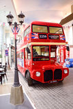 Bus-London-Straße stockfotos
