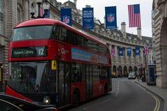 Bus Londra fotografia stock