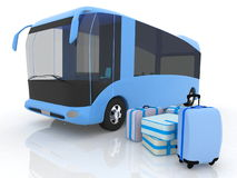 Bus and luggage Royalty Free Stock Photos