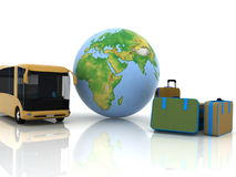 Bus and luggage Royalty Free Stock Image