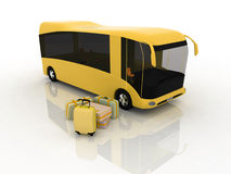 Bus and luggage Royalty Free Stock Photography