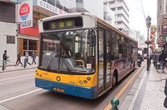 Bus in Macao Royalty Free Stock Image