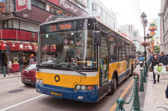 Bus in Macao Stock Photography