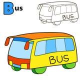 bus Malbuchseite Lizenzfreie Stockfotos