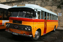 Bus in malta. A public bus at la valletta on malta island Royalty Free Stock Images