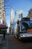 Bus in Manhattan Stockfoto
