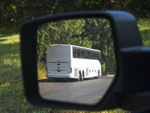 Bus in Mirror Royalty Free Stock Image