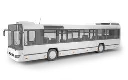 Bus mock up on white background, 3D illustration royalty free illustration