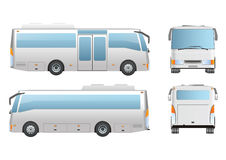 Bus Mockup six wheel Royalty Free Stock Photos
