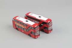 Bus model isolated over a white background Stock Photos