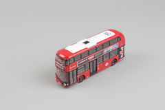 Bus model isolated over a white background Royalty Free Stock Photography