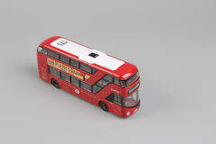 Bus model isolated over a white background Royalty Free Stock Photos