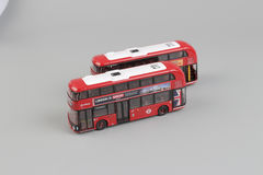 Bus model isolated over a white background Stock Image
