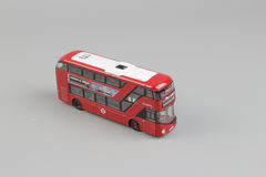 Bus model isolated over a white background Stock Photo