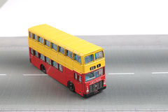 Bus model isolated over a white background Royalty Free Stock Photo