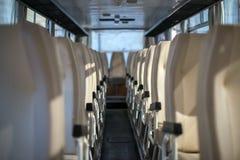 Bus at morning. Stock Photo