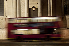 Bus in motion Stock Photo