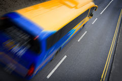 Bus in motion Stock Photos