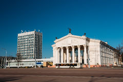 Bus Moving Along Street Near Building Of Gomel Regional Drama Th Stock Photos