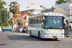 Bus of Nakhonchai air. Route Chiangmai and Ubon Ratchathani. Royalty Free Stock Photo