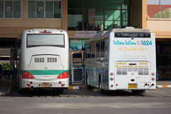Bus of Nakhonchai air. Route Chiangmai and Ubon Ratchathani. Stock Photo