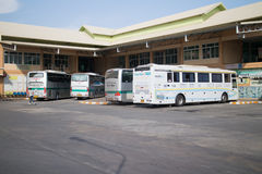 Bus of Nakhonchai air. Route Chiangmai and Ubon Ratchathani. Stock Photos