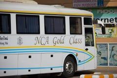 Bus of Nakhonchai air. Route Chiangmai and Ubon Ratchathani. Royalty Free Stock Photos