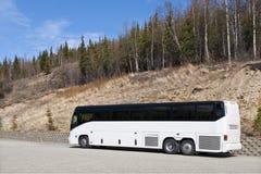 Bus in Nationaal Park Denali Stock Foto's
