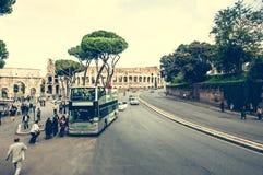 Bus near Coliseum Royalty Free Stock Photo