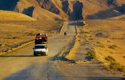 Bus nel deserto dell'Egitto Fotografie Stock Libere da Diritti