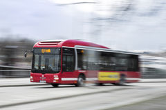 Bus nella velocità Immagine Stock Libera da Diritti