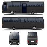 Bus nero di vettore illustrazione vettoriale
