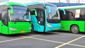 Bus neufs Image libre de droits