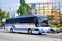 Bus No 8-001 of Naluang Bus Company. CHIANGMAI, THAILAND - MAY  25 2014: Bus No 8-001 of Naluang Bus Company. International bus between Chiangmai (thailand) and Royalty Free Stock Photography
